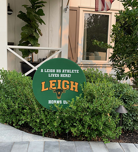 Leigh Sports Boosters Yard Sign